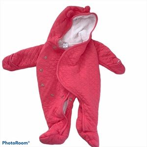 Carter's baby girl bunting suit